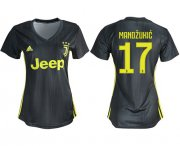 Wholesale Cheap Women's Juventus #17 Mandzukic Third Soccer Club Jersey