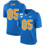 Wholesale Cheap Pittsburgh Panthers 85 Jester Weah Blue 150th Anniversary Patch Nike College Football Jersey