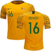 Wholesale Cheap Australia #16 Behich Home Soccer Country Jersey