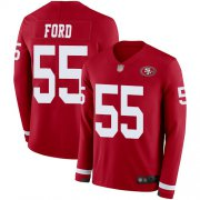 Wholesale Cheap Nike 49ers #55 Dee Ford Red Team Color Youth Stitched NFL Limited Therma Long Sleeve Jersey