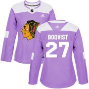 Wholesale Cheap Adidas Blackhawks #27 Adam Boqvist Purple Authentic Fights Cancer Women's Stitched NHL Jersey