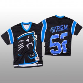 Wholesale Cheap NFL Carolina Panthers #52 Tahir Whitehead Black Men\'s Mitchell & Nell Big Face Fashion Limited NFL Jersey