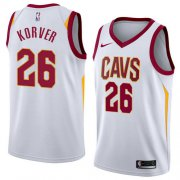 Wholesale Cheap Men's Nike Cavaliers 26 Kyle Korver White Stitched NBA Swingman Jersey