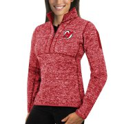 Wholesale Cheap New Jersey Devils Antigua Women's Fortune 1/2-Zip Pullover Sweater Red