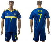 Wholesale Cheap Bosnia Herzegovina #7 Besic Home Soccer Country Jersey