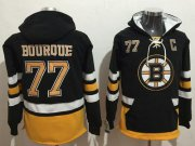 Wholesale Cheap Bruins #77 Ray Bourque Black Name & Number Pullover NHL Hoodie