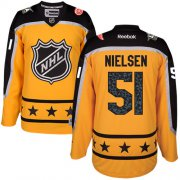 Wholesale Cheap Red Wings #51 Frans Nielsen Yellow 2017 All-Star Atlantic Division Stitched Youth NHL Jersey