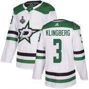 Wholesale Cheap Adidas Stars #3 John Klingberg White Road Authentic 2020 Stanley Cup Final Stitched NHL Jersey