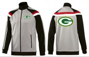 Wholesale Cheap NFL Green Bay Packers Team Logo Jacket Grey