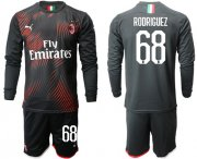 Wholesale Cheap AC Milan #68 Rodriguez Third Long Sleeves Soccer Club Jersey