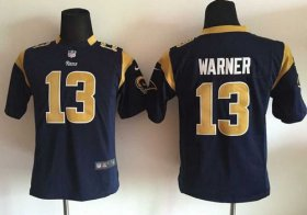 Wholesale Cheap Nike Rams #13 Kurt Warner Navy Blue Team Color Youth Stitched NFL Elite Jersey