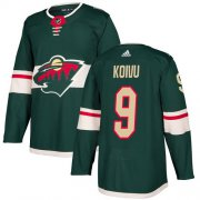 Wholesale Cheap Adidas Wild #9 Mikko Koivu Green Home Authentic Stitched Youth NHL Jersey