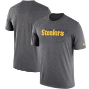 Wholesale Cheap Pittsburgh Steelers Nike Sideline Seismic Legend Performance T-Shirt Charcoal