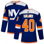 Wholesale Cheap Adidas Islanders #40 Semyon Varlamov Blue Alternate Authentic Stitched Youth NHL Jersey
