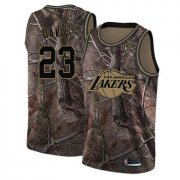 Cheap Youth Lakers #23 Anthony Davis Camo Basketball Swingman Realtree Collection Jersey