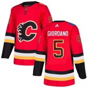Wholesale Cheap Adidas Flames #5 Mark Giordano Red Home Authentic Drift Fashion Stitched NHL Jersey