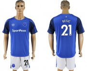 Wholesale Cheap Everton #21 Besic Home Soccer Club Jersey