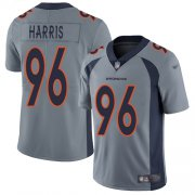 Wholesale Cheap Nike Broncos #96 Shelby Harris Gray Men's Stitched NFL Limited Inverted Legend Jersey