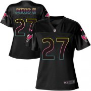 Wholesale Cheap Nike Buccaneers #27 Ronald Jones II Black Women's NFL Fashion Game Jersey