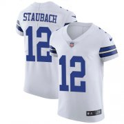 Wholesale Cheap Nike Cowboys #12 Roger Staubach White Men's Stitched NFL Vapor Untouchable Elite Jersey