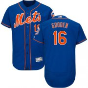 Wholesale Cheap Mets #16 Dwight Gooden Blue Flexbase Authentic Collection Stitched MLB Jersey
