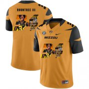 Wholesale Cheap Missouri Tigers 34 Larry Rountree III Gold Nike Fashion College Football Jersey