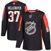 Wholesale Cheap Adidas Jets #37 Connor Hellebuyck Black 2018 All-Star Central Division Authentic Stitched NHL Jersey