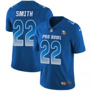 Wholesale Cheap Nike Vikings #22 Harrison Smith Royal Youth Stitched NFL Limited NFC 2019 Pro Bowl Jersey