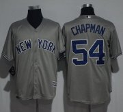 Wholesale Cheap Yankees #54 Aroldis Chapman Grey New Cool Base Stitched MLB Jersey