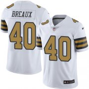 Wholesale Cheap Nike Saints #40 Delvin Breaux White Men's Stitched NFL Limited Rush Jersey