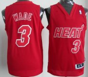 Wholesale Cheap Miami Heat #3 Dwyane Wade Revolution 30 Swingman Red Big Color Jersey