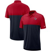 Wholesale Cheap Houston Texans Nike Sideline Early Season Performance Polo Red Navy
