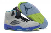 Wholesale Cheap Air Jordan 5 New Color Shoes Light gray/Blue/Green