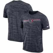 Wholesale Cheap Houston Texans Nike Sideline Velocity Performance T-Shirt Heathered Navy