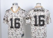 Wholesale Cheap Nike 49ers #16 Joe Montana Camo USMC Men's Stitched NFL Elite Jersey