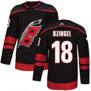 Wholesale Cheap Adidas Hurricanes #18 Ryan Dzingel Black Alternate Authentic Stitched Youth NHL Jersey
