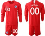 Wholesale Cheap Chile Personalized Home Long Sleeves Soccer Country Jersey
