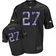 Wholesale Cheap Sideline Black United Ravens #27 Ray Rice Black Stitched NFL Jersey