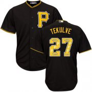 Wholesale Cheap Pirates #27 Kent Tekulve Black Team Logo Fashion Stitched MLB Jersey