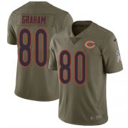 Wholesale Cheap Nike Bears #80 Jimmy Graham Olive Youth Stitched NFL Limited 2017 Salute To Service Jersey