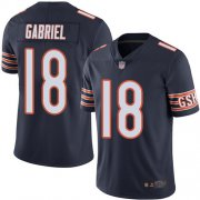 Wholesale Cheap Nike Bears #18 Taylor Gabriel Navy Blue Team Color Men's Stitched NFL Vapor Untouchable Limited Jersey