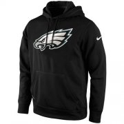 Wholesale Cheap Men's Philadelphia Eagles Nike Black KO Logo Essential Hoodie