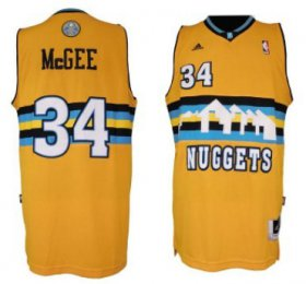 Wholesale Cheap Denver Nuggets #34 JaVale McGee Revolution 30 Swingman Yellow Jersey