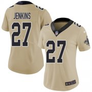 Wholesale Cheap Nike Saints #27 Malcolm Jenkins Gold Women's Stitched NFL Limited Inverted Legend Jersey