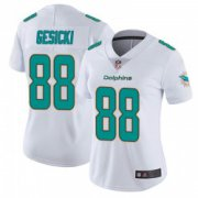 Wholesale Cheap Women's Miami Dolphins #88 Mike Gesicki White limited Vapor Untouchable Jersey
