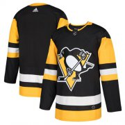 Wholesale Cheap Adidas Penguins Blank Black Home Authentic Stitched Youth NHL Jersey