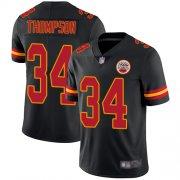 Wholesale Cheap Nike Chiefs #34 Darwin Thompson Black Youth Stitched NFL Limited Rush Jersey