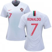 Wholesale Cheap Women's Portugal #7 Ronaldo Away Soccer Country Jersey
