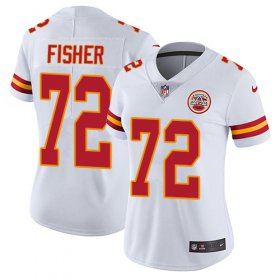 Wholesale Cheap Nike Chiefs #72 Eric Fisher White Women\'s Stitched NFL Vapor Untouchable Limited Jersey