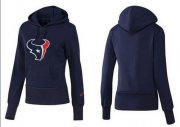 Wholesale Cheap Women's Houston Texans Logo Pullover Hoodie Blue